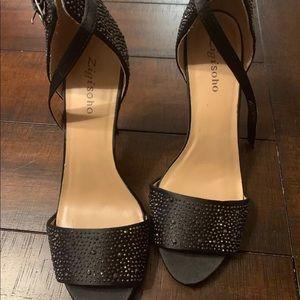 Zigi Soho Sz 9.5 Tariff Black Stiletto Sandals